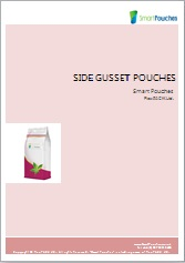Side gusset stand up pouches brochure.